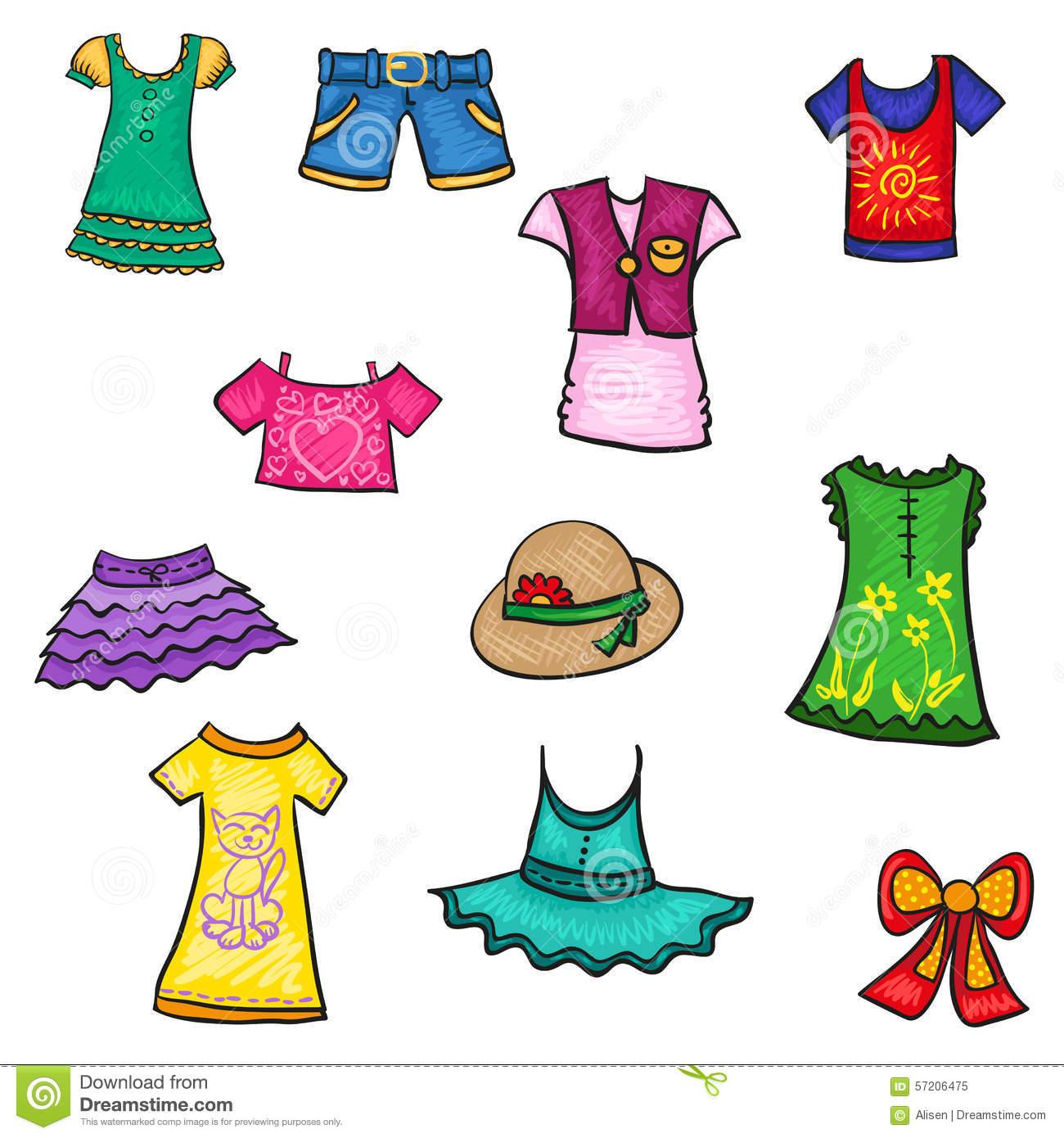 Summer Clothes Clipart.
