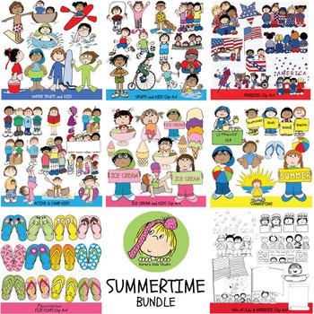 Clip Art MEGA BUNDLE SUMMER FUN (Karen\'s Kids Clip Art).