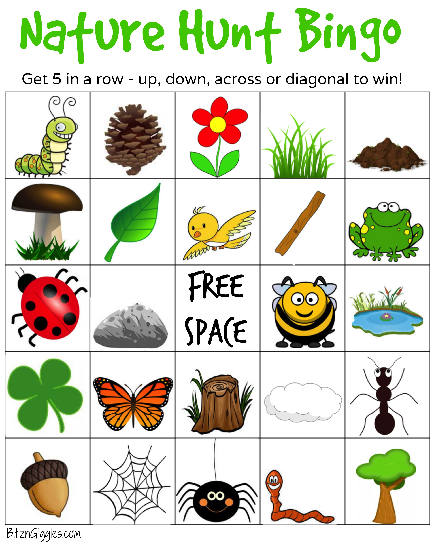 Nature Hunt Bingo.