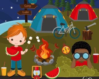 Kids Summer Nature Fun Clipart.