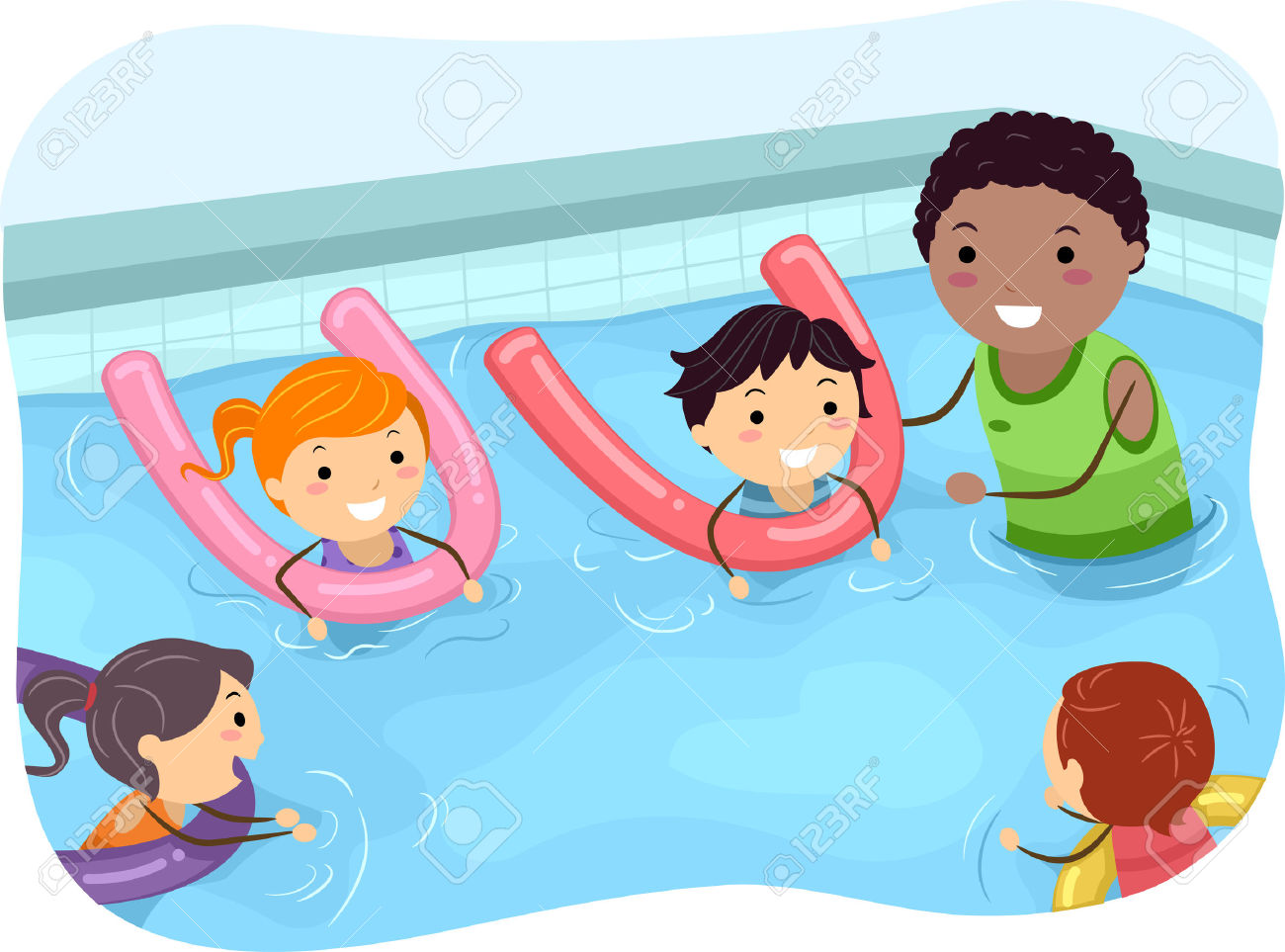 Kids swimming clipart 1 » Clipart Station.