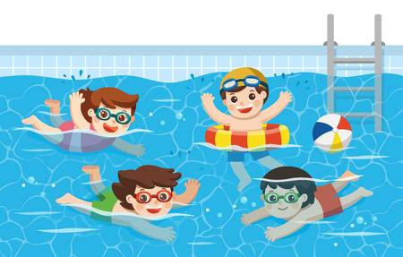 2,921 Kids Swimming Pool Stock Vector Illustration And Royalty Free.