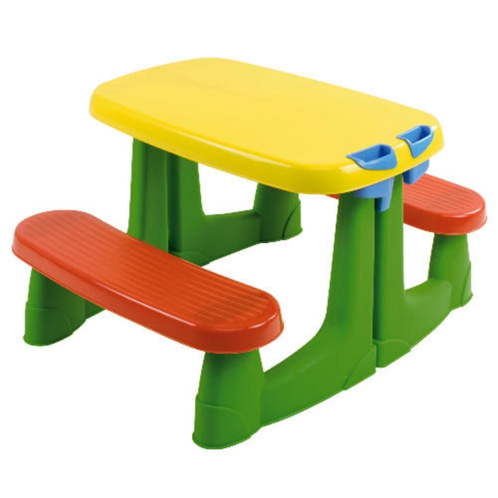 Picnic Table With Kids Clipart.