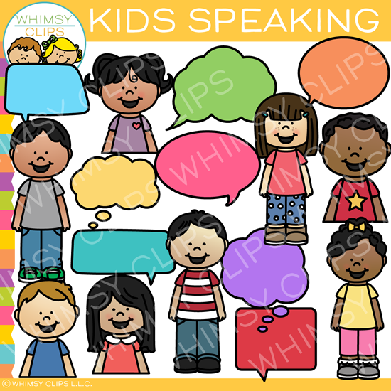 Kids Speaking Clip Art.