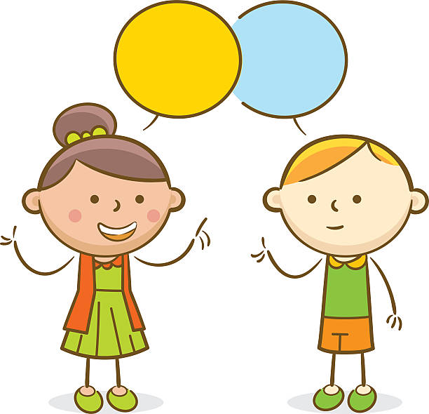 Children talking clipart 2 » Clipart Station.