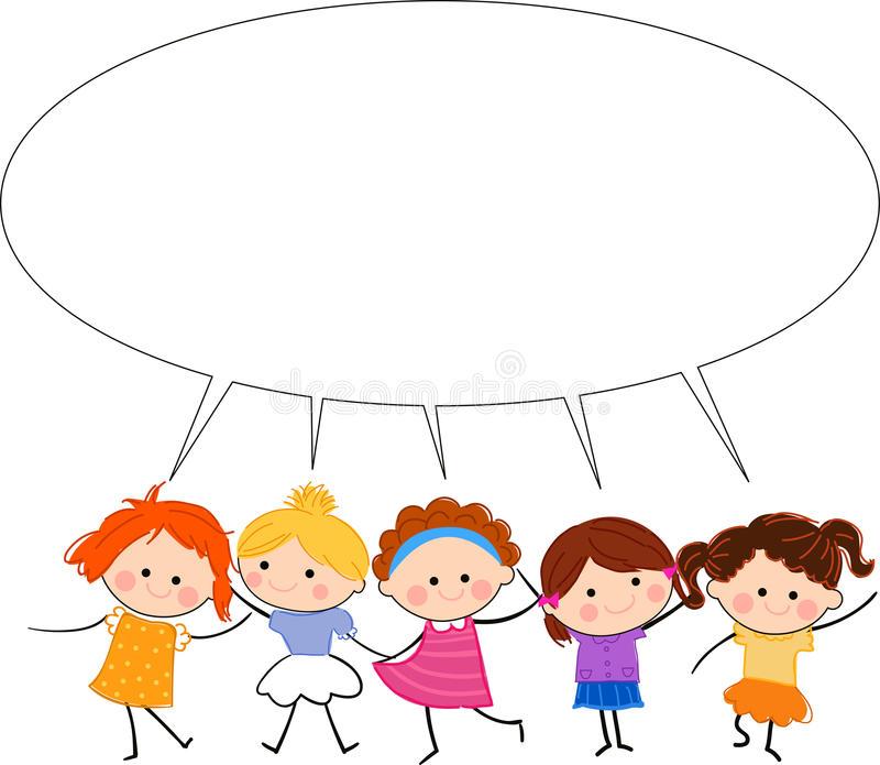 Kids Talking Stock Illustrations.