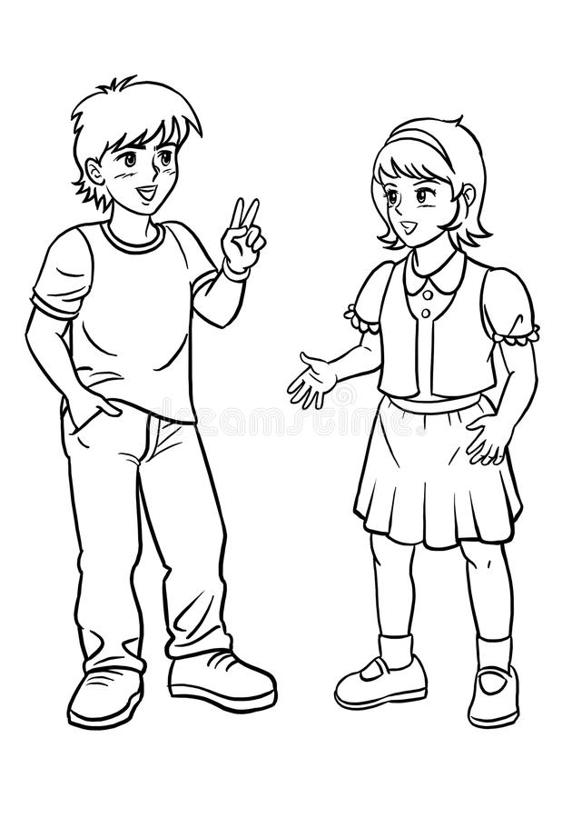 Girl Talking Clipart Black And White.