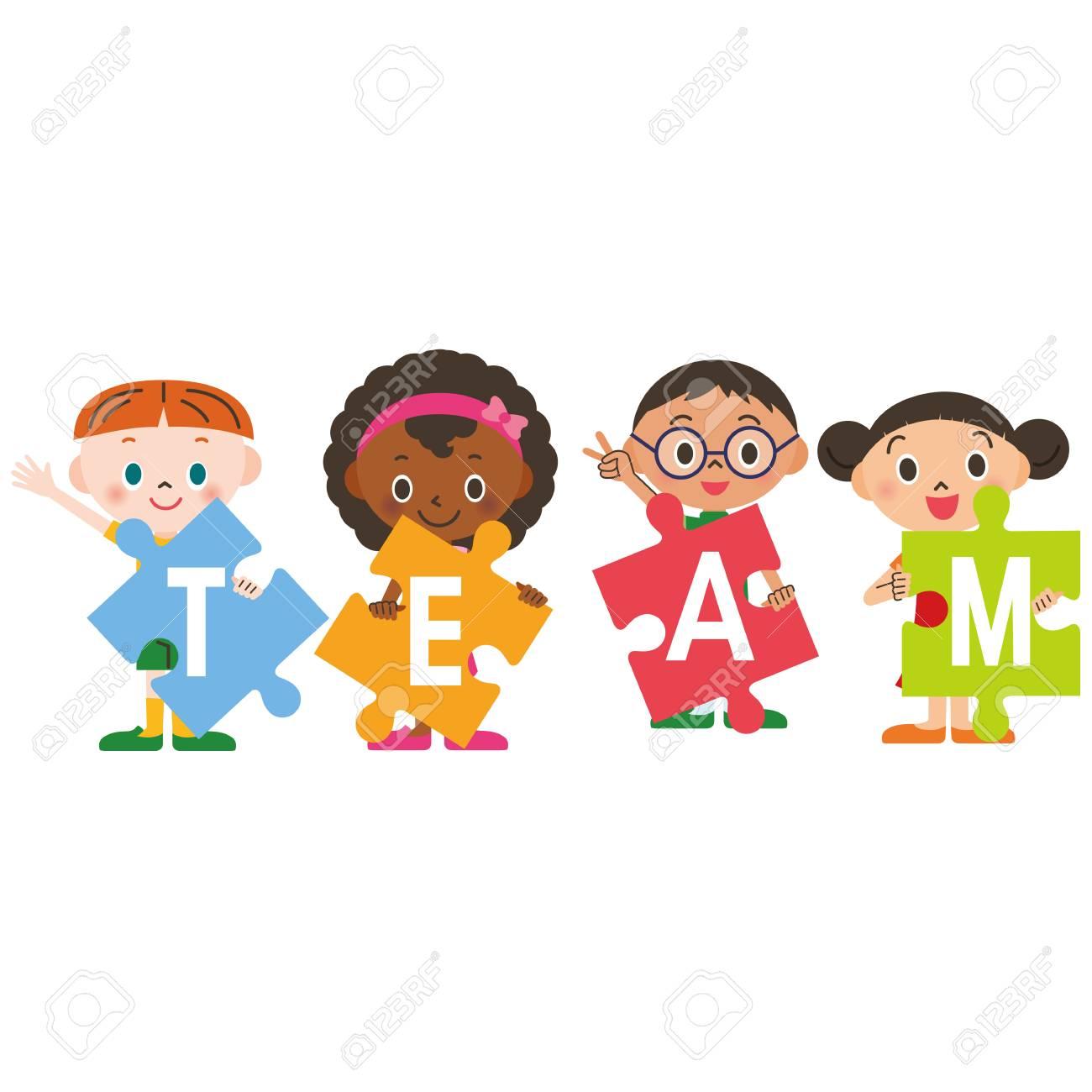 Children who are teamwork.