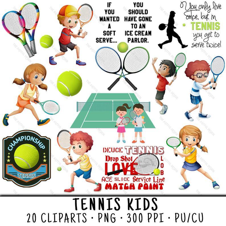 Tennis Clipart, Tennis Clip Art, Tennis Kids PNG, PNG Tennis Kids, Tennis  PNG, Sports Clipart, Sports Clip Art, Clipart Tennis.