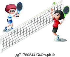 Kids Tennis Clip Art.