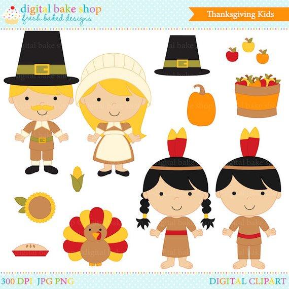 thanksgiving clipart clip art kids children.