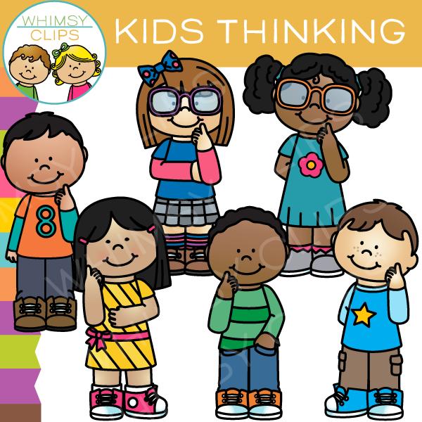 Kids Thinking Clip Art.
