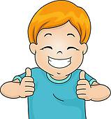 Kid Thumbs Up Clipart.