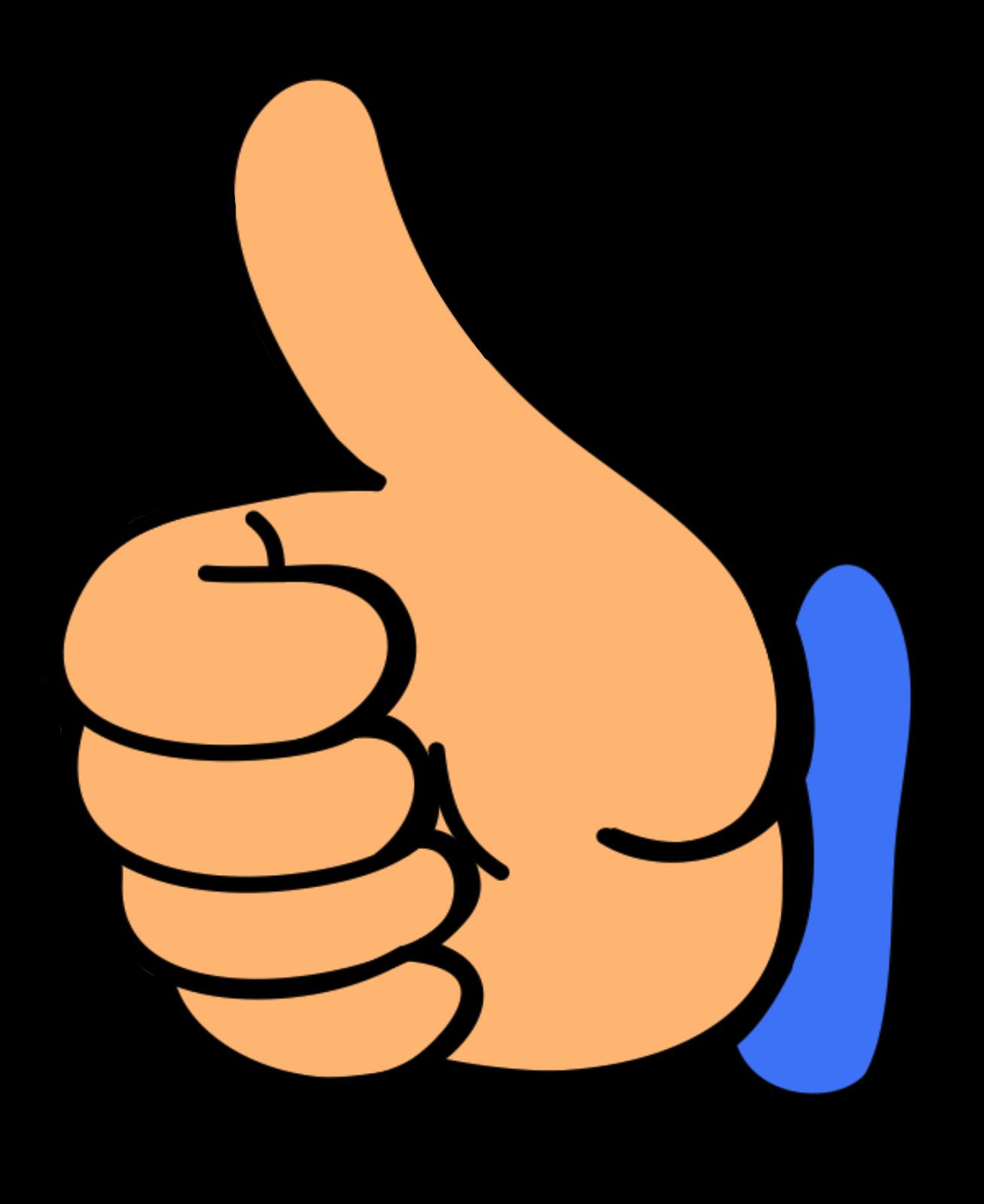 Thumb signal Clip art.