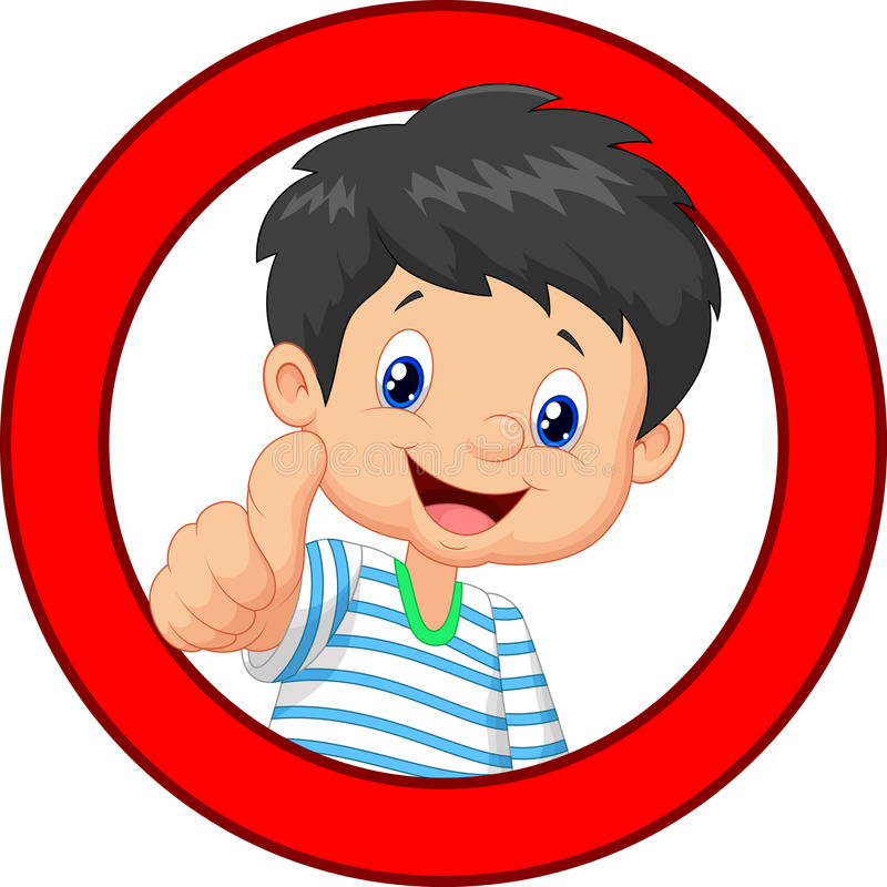 Kid With Thumbs Up Clipart.