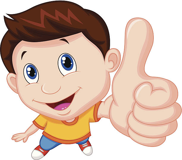 Kids Thumbs Up Clipart.