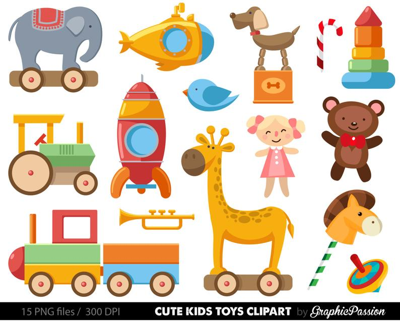 Baby Toys Clipart Clip Art, Baby Clip art, Toy cars , kids toys  clipart,digital illustration, Toy clipart, Toy clipart, Baby clipart.