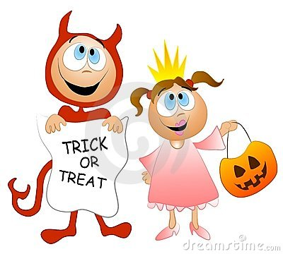Trick Or Treat Kids Costumes Stock Image.