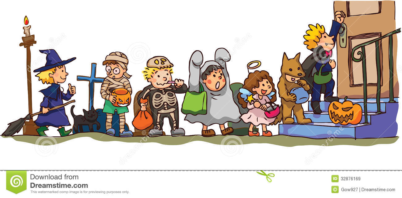 Trick Or Treat Kids Clipart.