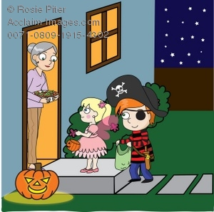 kids trick or treating clipart & stock photography.