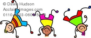 Children\'s Gymnastics Clipart.