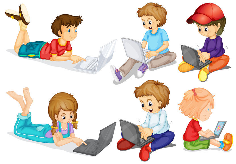 Kids And Technology Clipart.