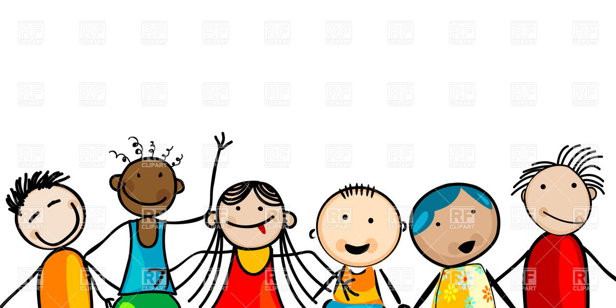 Faces of smiling, multiethnic kids Stock Vector Image.
