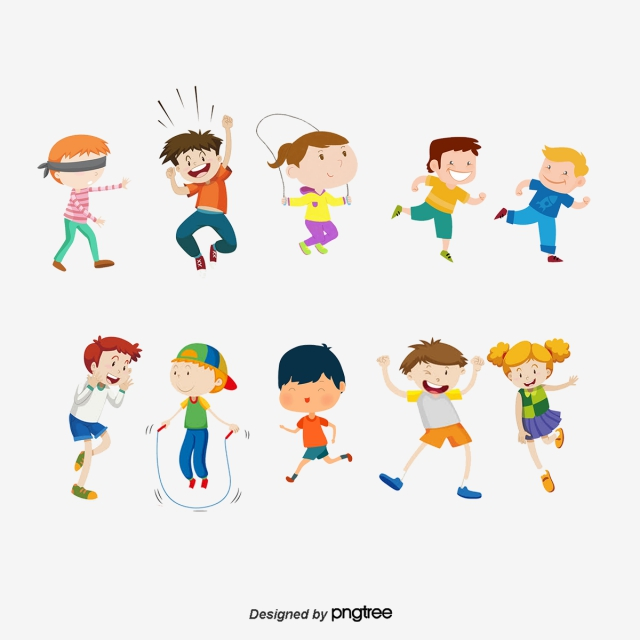 Vector Kids Play Different Games, Kids Vector, Play Vector, Kids.