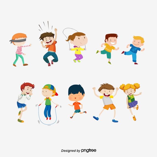 Vector Kids Play Different Games, Kids Vector, Play Vector, Kids.