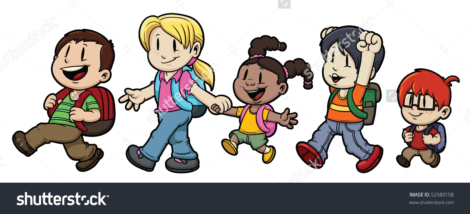 kids walking clipart - Clipground