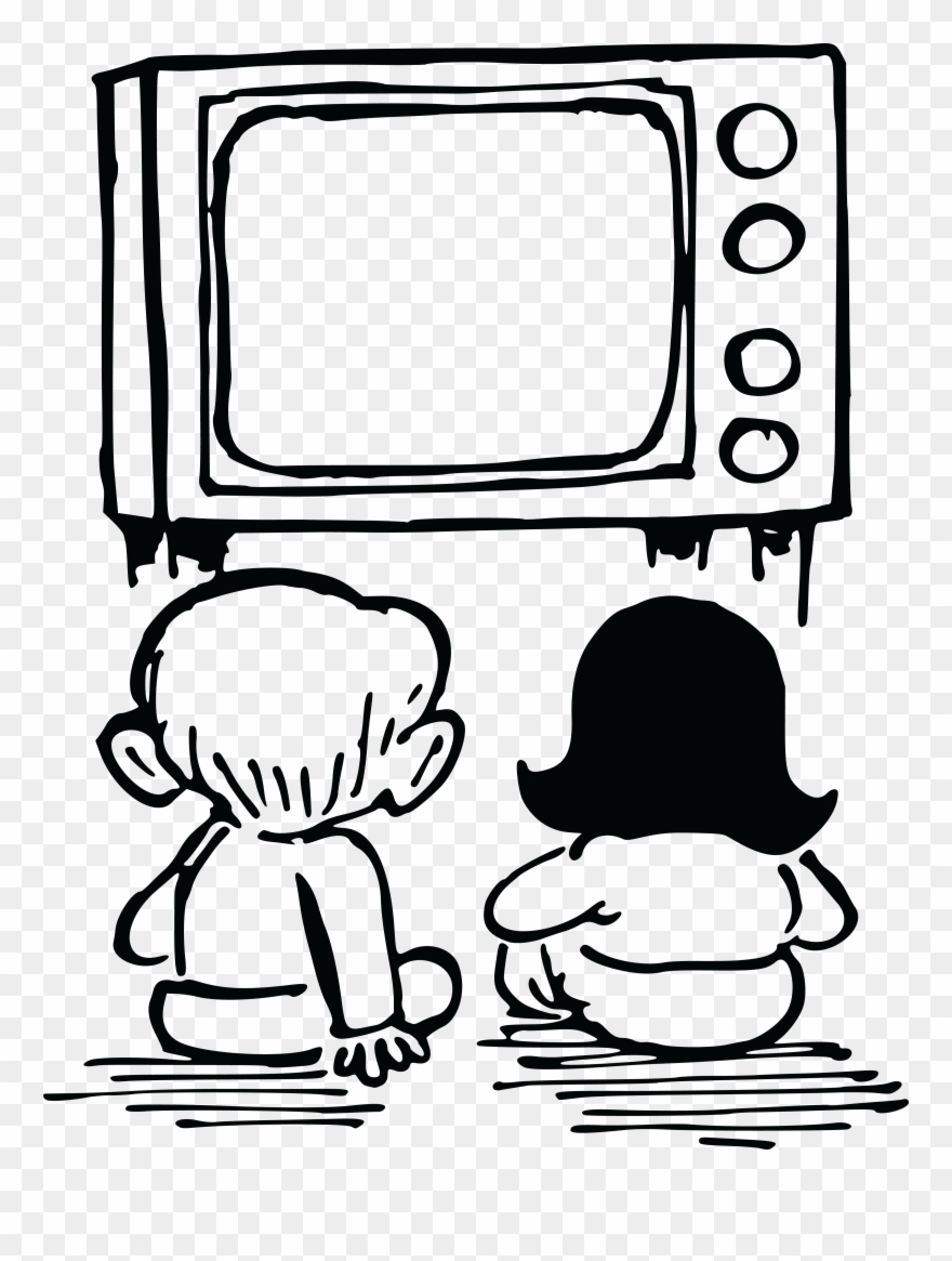 Free Clipart Of Kids Watching Tv.