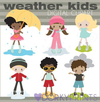Weather Clipart with Kids.