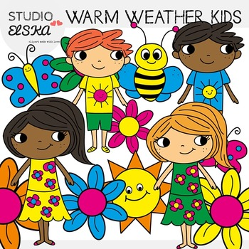 Warm Weather Kids Clipart.