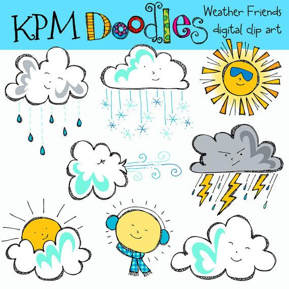 KPM Weather Friends Digital Clip Art.