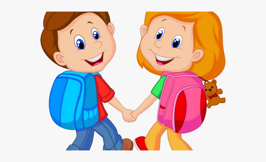 Goodbye Clipart Backpack Kid.
