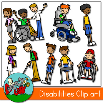 Kids with Disabilities Clipart.