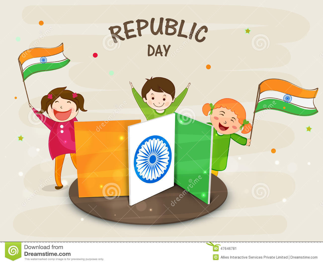 Kids With Indian Flag Clipart.