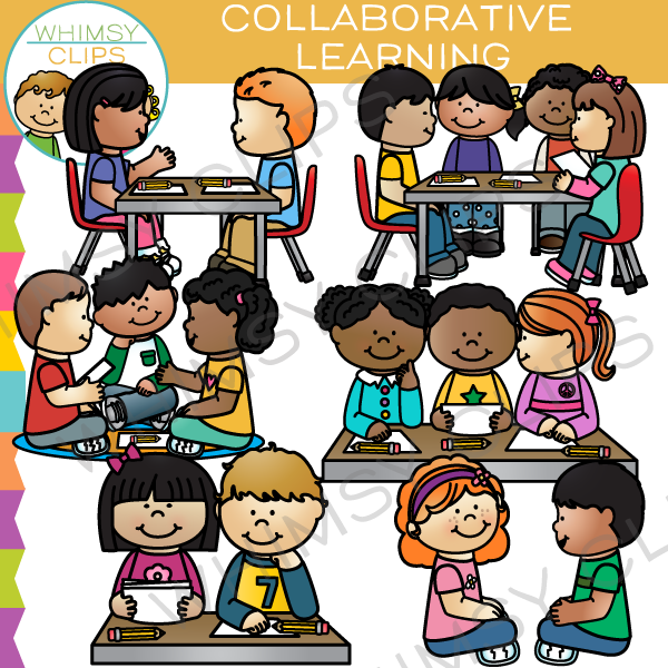 Collaborative Learning Clip Art.