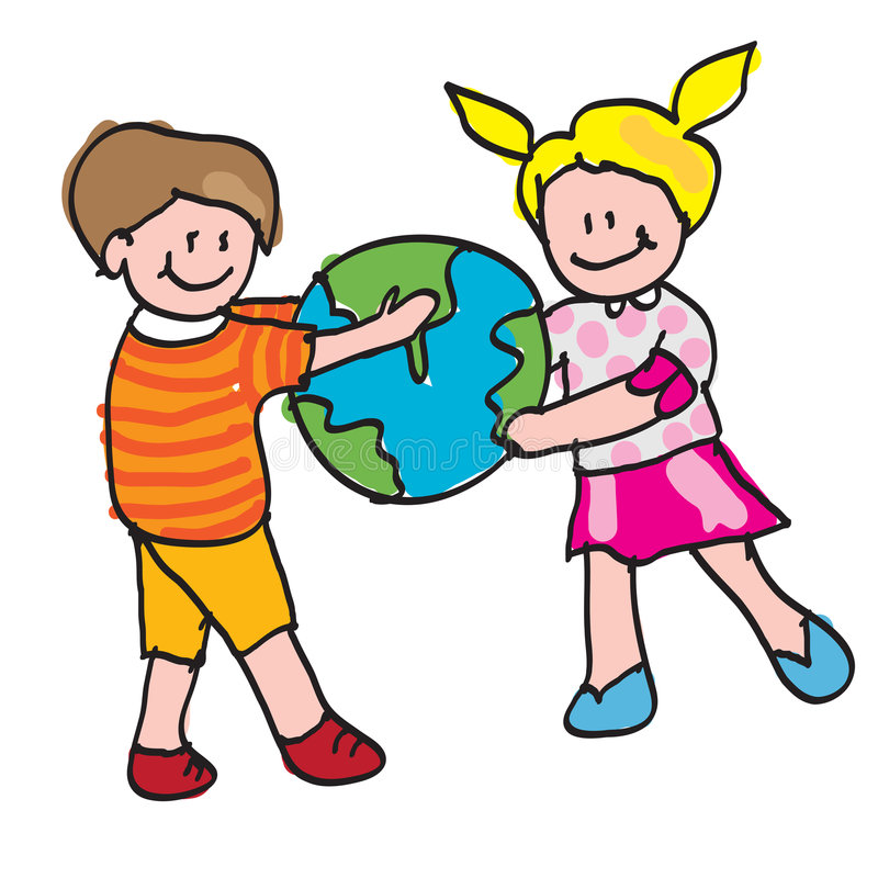 Kids World Stock Illustrations.
