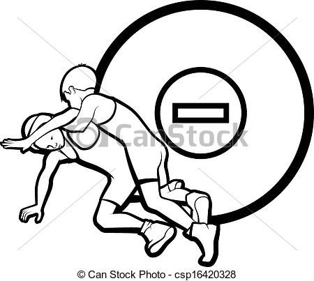 female junior wrestling clipart.