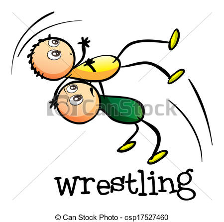 Kids Wrestling Clipart.