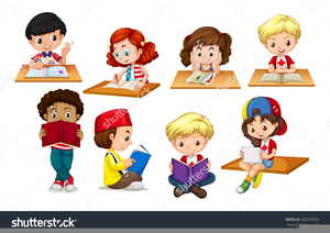 Free Clipart Of Kids Writing.