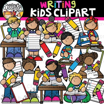 Writing Kids Clipart {Writing Clipart}.