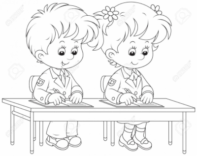 kid writing , Free clipart download.