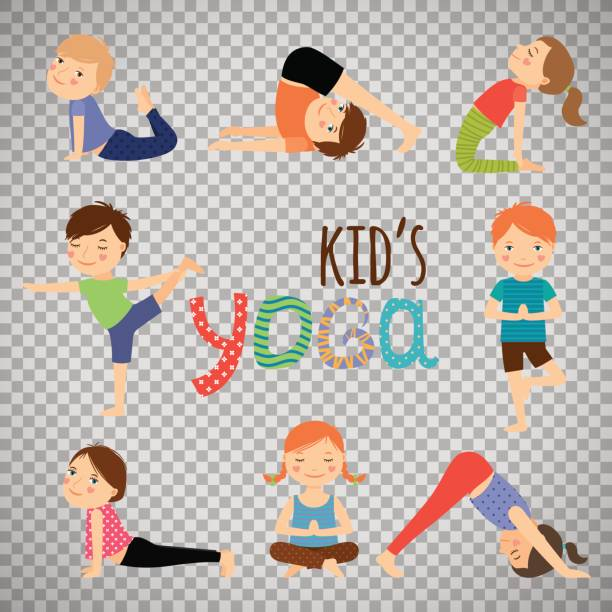 Best Kids Yoga Illustrations, Royalty.