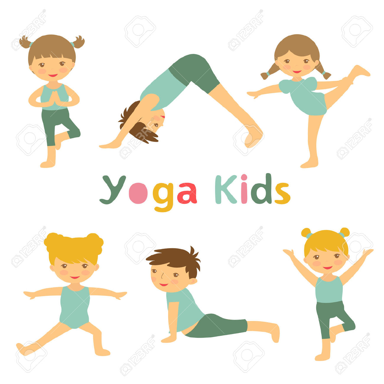 1,131 Yoga Kids Stock Vector Illustration And Royalty Free Yoga.
