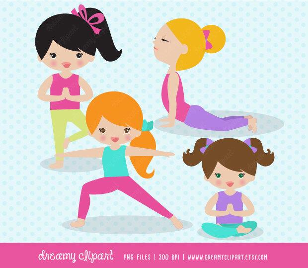 Yoga clipart / kids yoga clipart / yoga kids clip art / yoga.