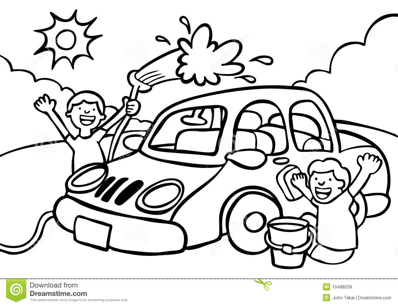 Black And White Car Wash Clipart.