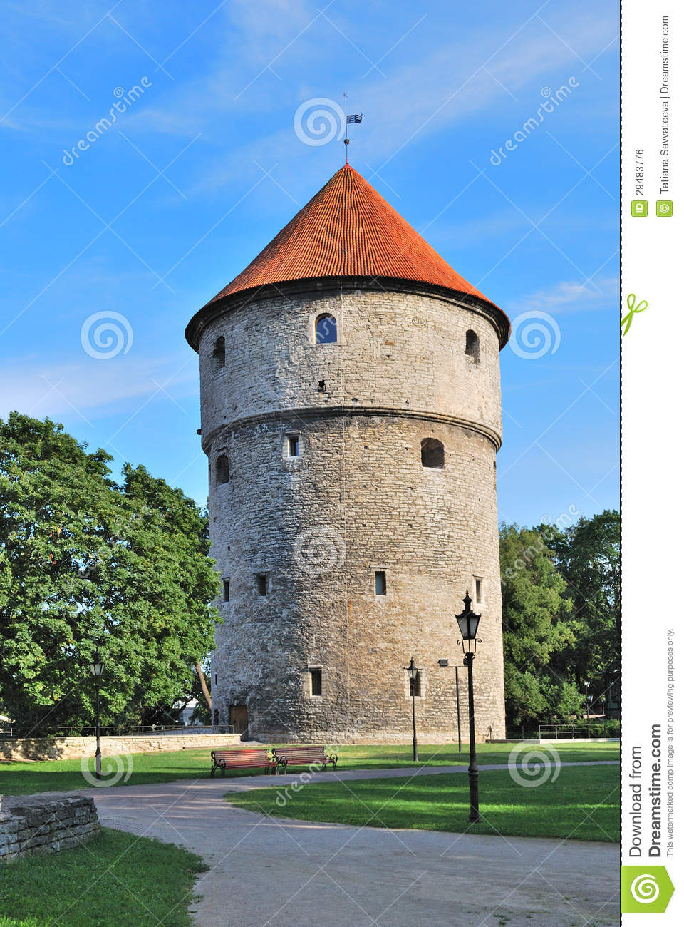 Tallinn, Estonia. Medieval Tower Kiek.