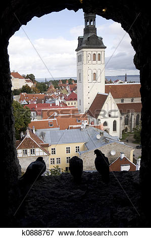 Picture of Looking out on Tallinn from the Kiek In De Kok k0888767.
